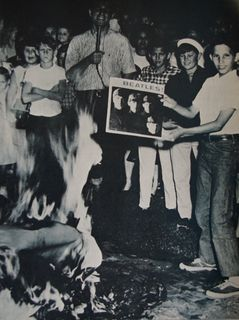 Beatles burning